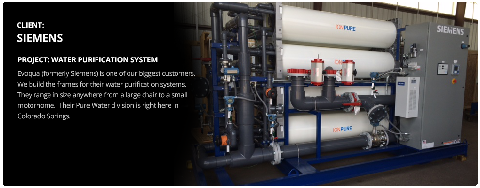 Integrity Welding and Manufacturing - Siemens Water Purification Project